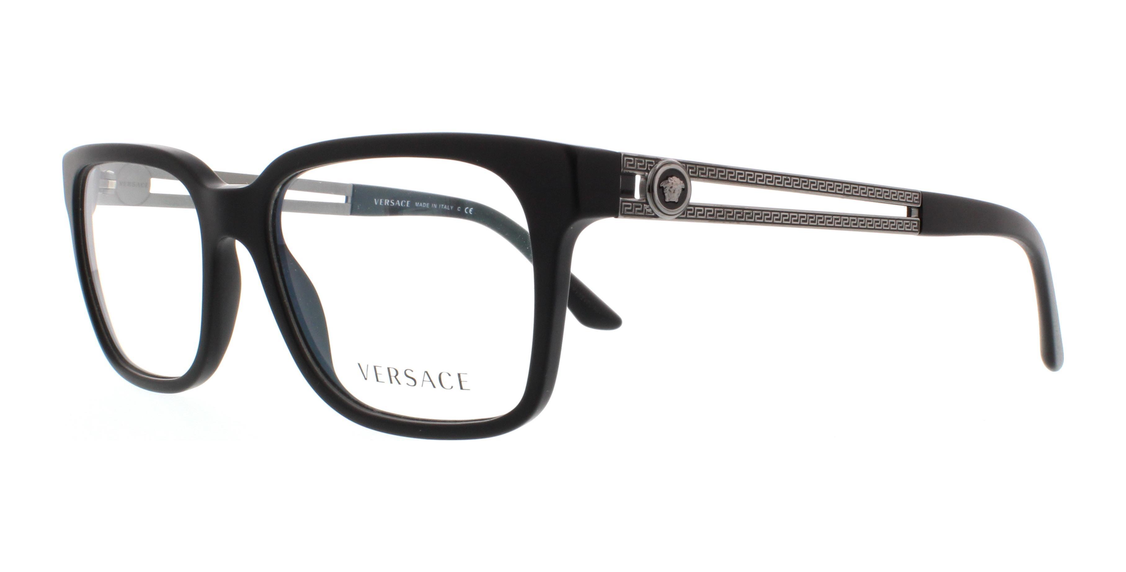 2200f46da9c VERSACE Eyeglasses VE3218 5122 Black Sand 53MM 8053672468939