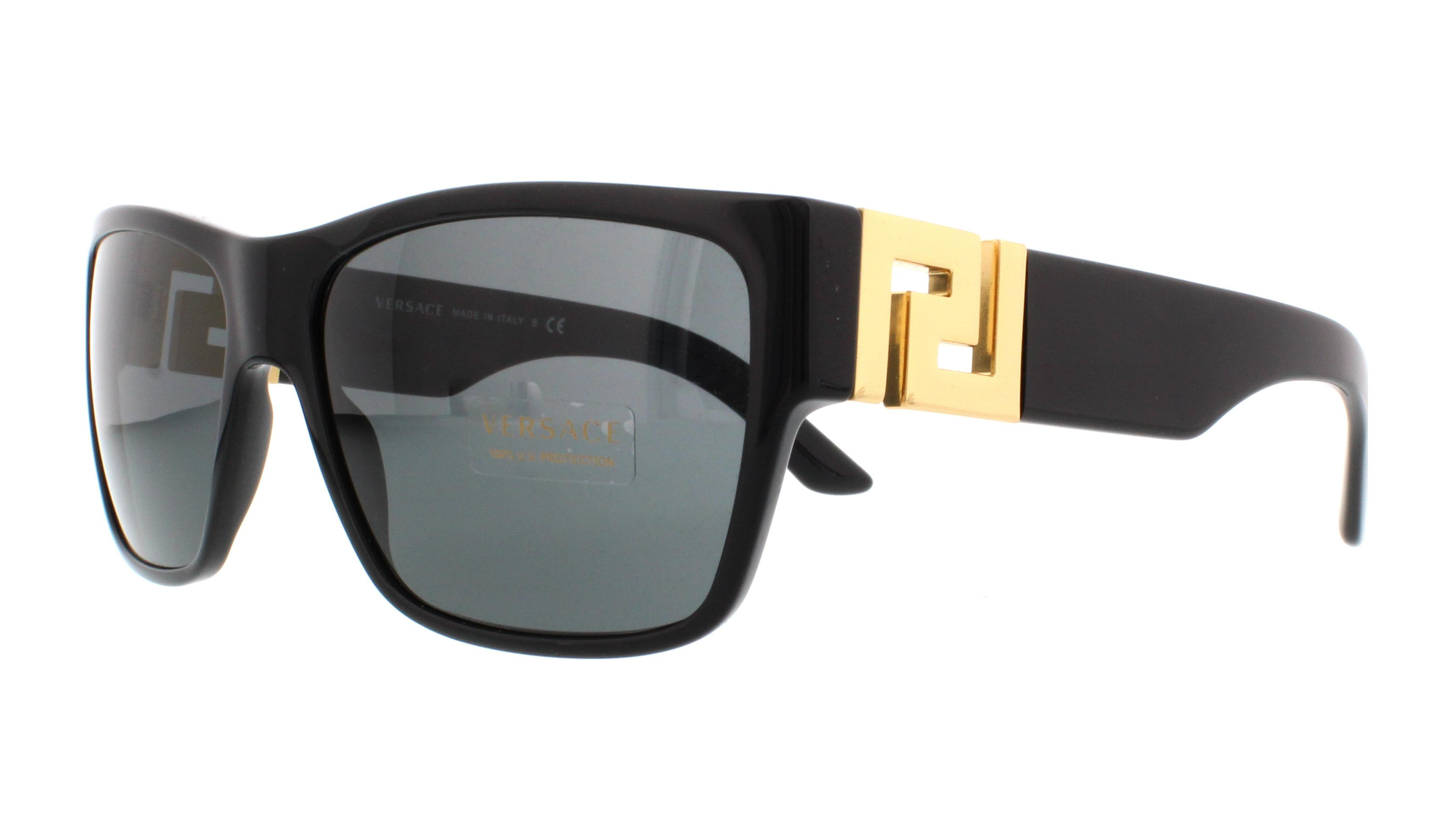 5657c107e4 Details about VERSACE Sunglasses VE4296 GB1 87 Black 59MM