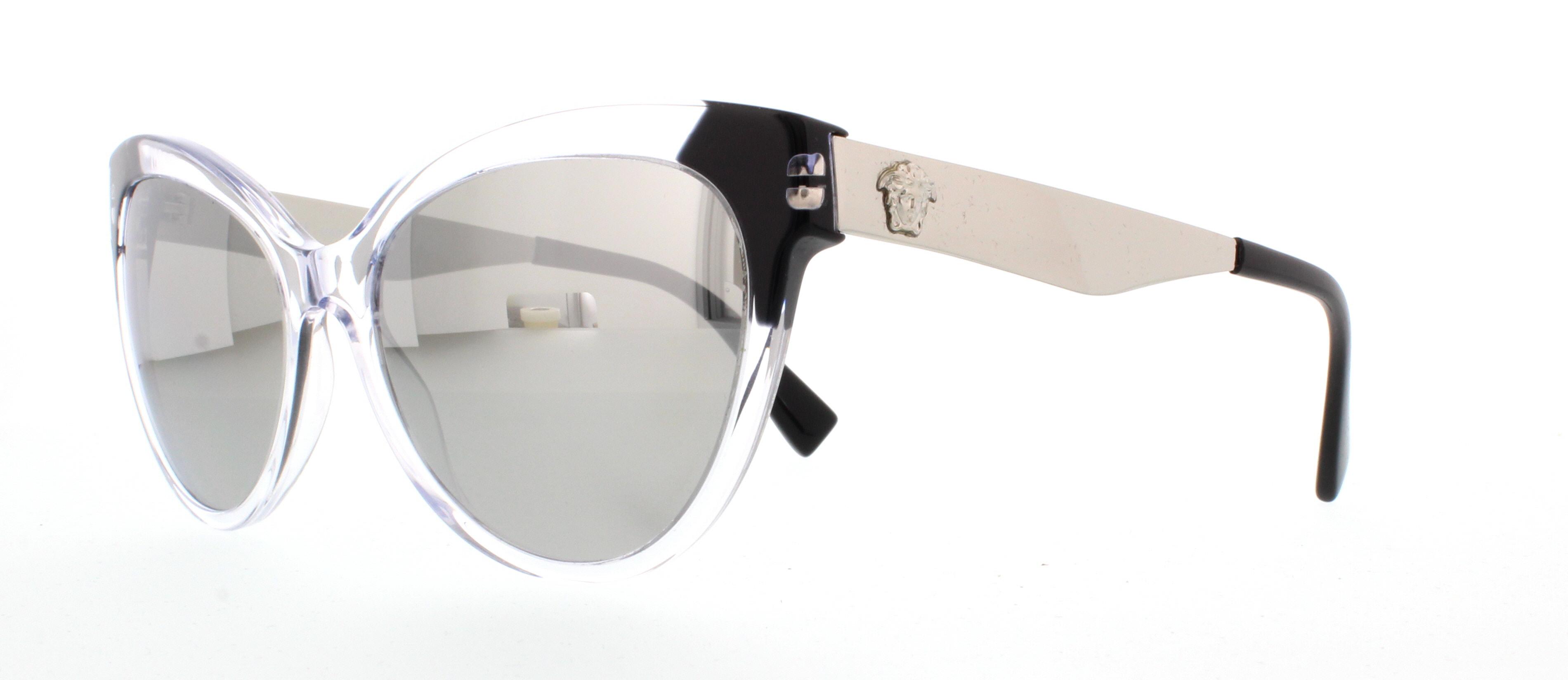 Versace VE4338 Sonnenbrille Transparent / Schwarz 52436G 57mm Yy4XQqmp