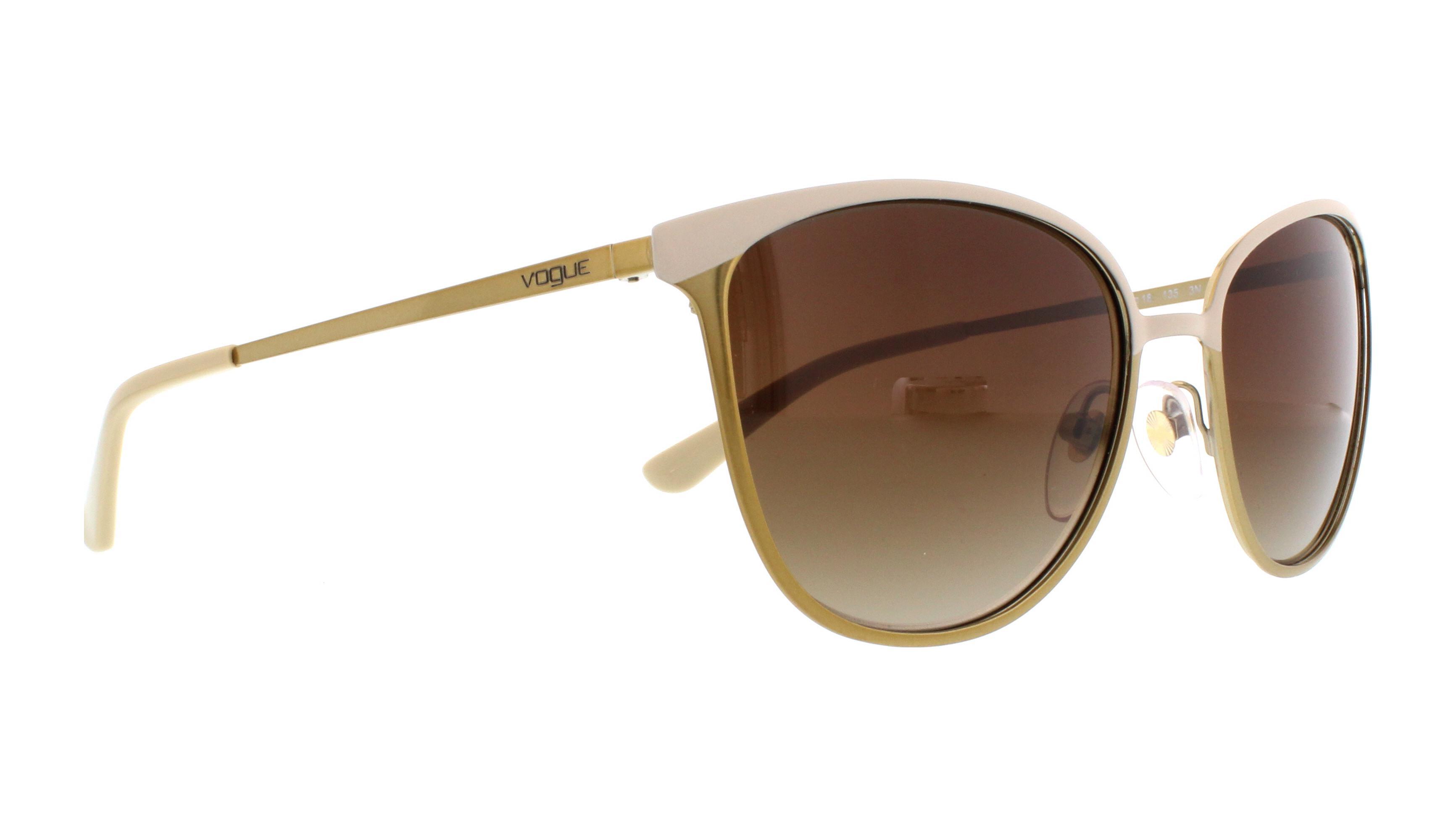 Vogue VO4002S Sonnenbrille Beige / Gold 996S13 55mm fX6XNI20NQ