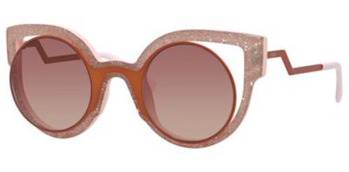 9a916a2a4c65 FENDI Sunglasses 0137 S 0NUG Orange Glitter Pink 49MM 762753232670 ...