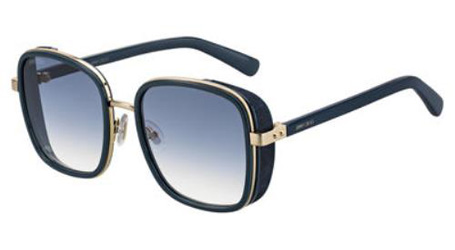562a4092d29 NEW Jimmy Choo JCH Lizzy Sunglasses 0KY2 Blue Gold 100% AUTHENTIC