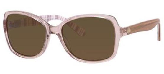 556d693322 Kate Spade Womens Ayleenps Polarized Rectangular Sunglasses Beige Stripe  White Brown 56 mm