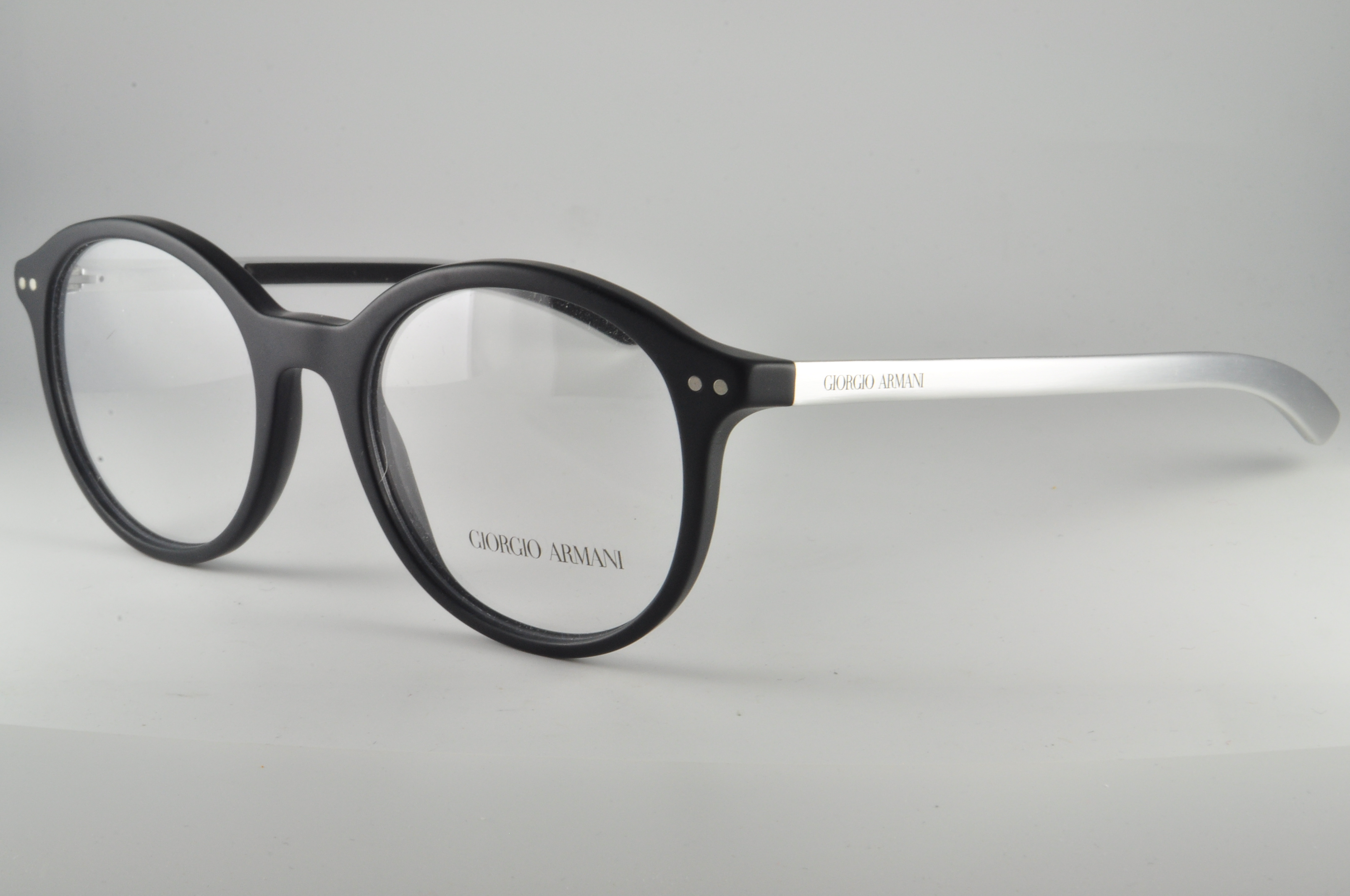 Giorgio Armani Eyeglass Frames AR 7065q 5042 Black Aluminium Men Sz ...