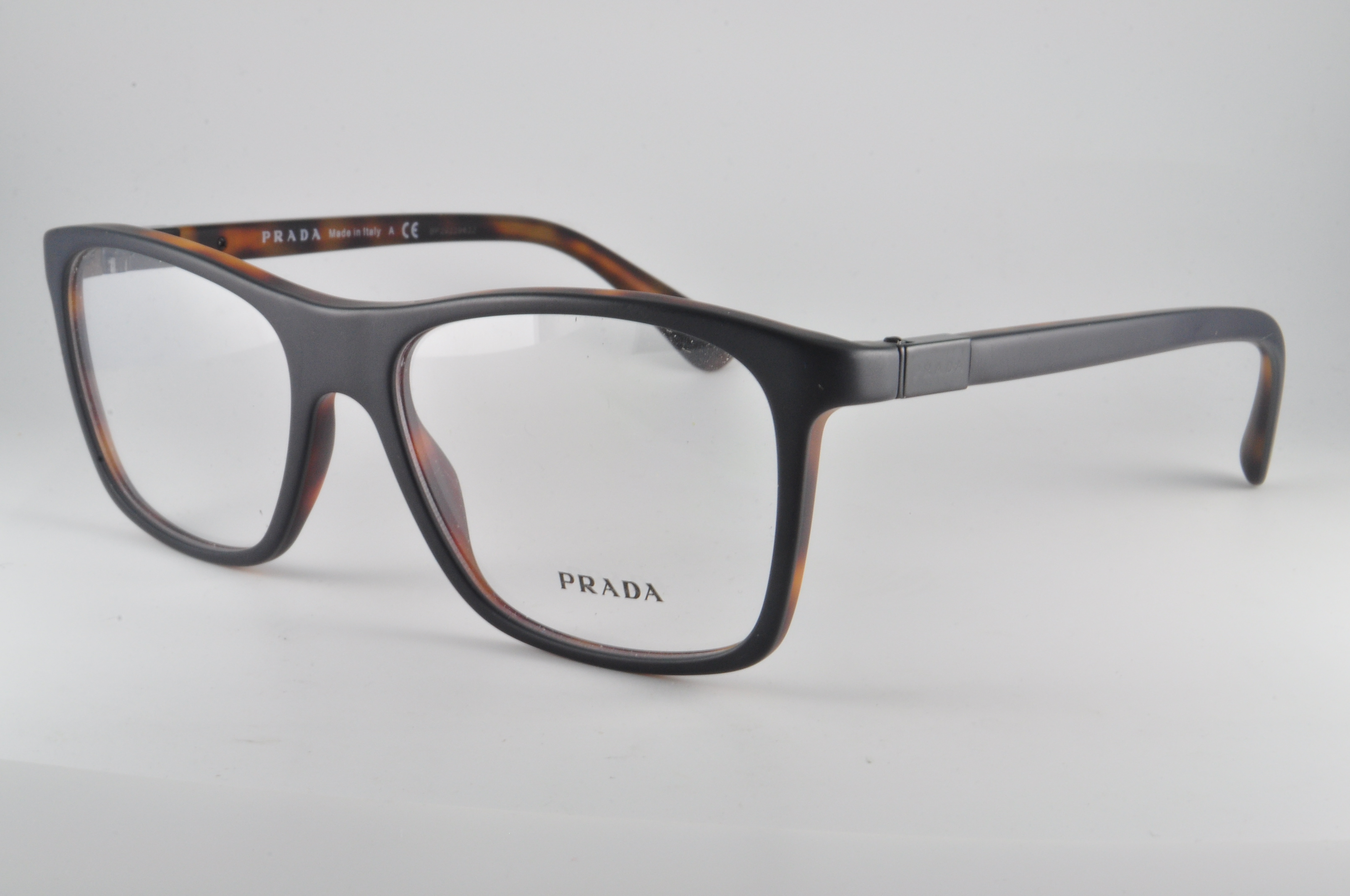 PRADA RX Eyeglasses Frames VPR 05s Ubh-1o1 55x17 Matte Top Black on ...