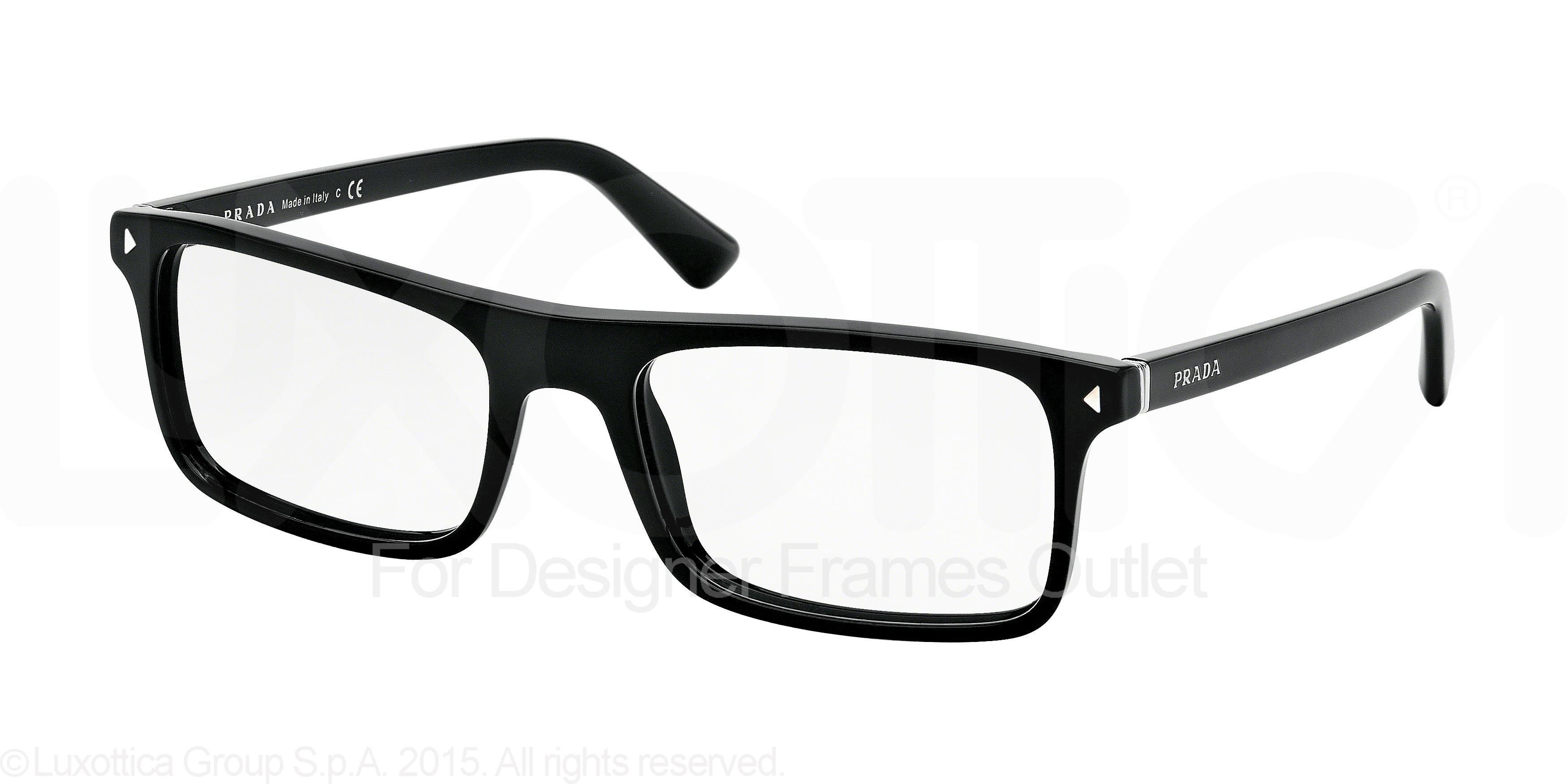 340dbf897cdb PRADA Eyeglasses PR02RV 1AB1O1 Black 56MM 8053672269581 | eBay