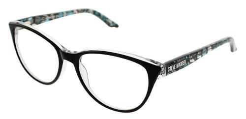STEVE MADDEN Eyeglasses SAAMI BLACK LAMINATE 53MM 886453389295 | eBay
